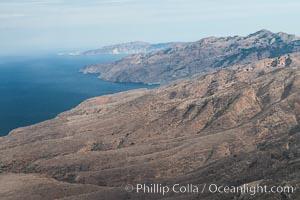 Santa Cruz Island, north side, aerial photo., natural history stock photograph, photo id 29392