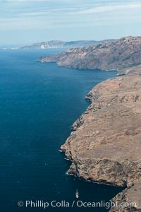 Santa Cruz Island, north side, aerial photo