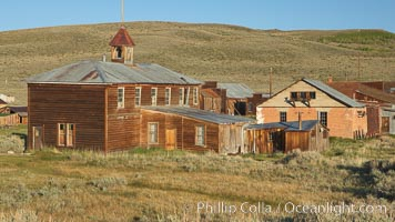 School house. Bodie State Historical Park, California, USA, natural history stock photograph, photo id 23139