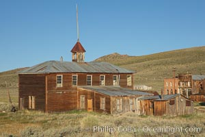 School house. Bodie State Historical Park, California, USA, natural history stock photograph, photo id 23155