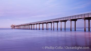 Scripps Pier, sunrise. Scripps Institution of Oceanography, La Jolla, California, USA, natural history stock photograph, photo id 26429