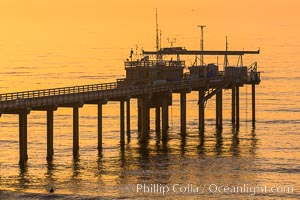 Scripps Pier, Scripps Institute of Oceanography Research Pier, sunset, La Jolla, California