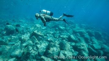 SCUBA Diver, Los Islotes, Sea of Cortez