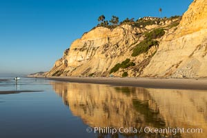 Sea cliffs over Blacks Beach, La Jolla, California