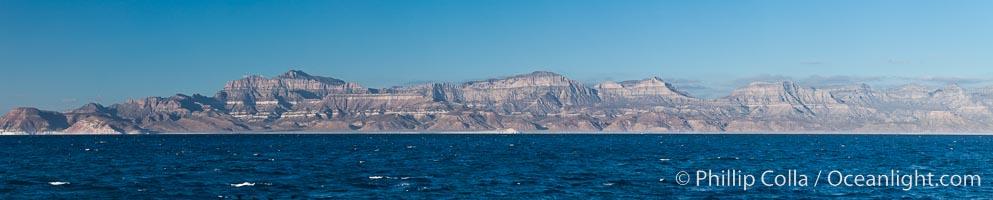 Sea of Cortez coastal scenic panorama, near La Paz, Baja California, Mexico