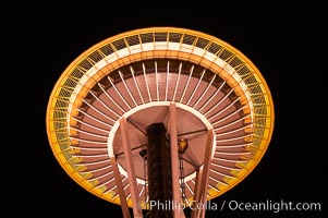 Space Needle at night. Seattle, Washington, USA, natural history stock photograph, photo id 13669