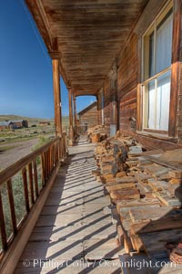 Seiler House, front porch, Park Street. Bodie State Historical Park, California, USA, natural history stock photograph, photo id 23136