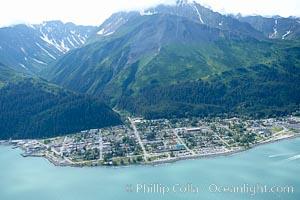 Seward, a port city that lies at the foot of the Kenai Mountains, where the Russian River empties into Resurrection Bay. Alaska, USA, natural history stock photograph, photo id 19013
