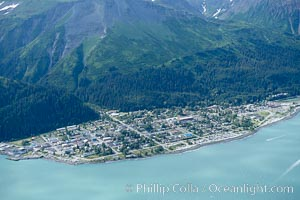 Seward, a port city that lies at the foot of the Kenai Mountains, where the Russian River empties into Resurrection Bay