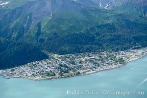Seward, a port city that lies at the foot of the Kenai Mountains, where the Russian River empties into Resurrection Bay. Seward, Alaska, USA, natural history stock photograph, photo id 19014