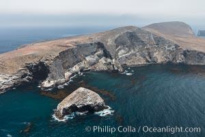 Santa Barbara Island, aerial photograph. Santa Barbara Island, California, USA, natural history stock photograph, photo id 29362