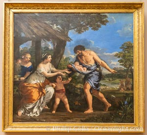 The Shepherd Faustulus Bringing Romulus and Remus to his Wife, Nicolas Mignard (1654), Mus�e du Louvre, Paris, Musee du Louvre