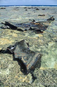 Image 00719, Wreck of F/V Jin Shiang Fa. Rose Atoll National Wildlife Sanctuary, American Samoa, USA