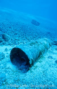 Debris from wreck of F/V Jin Shiang Fa. Rose Atoll National Wildlife Sanctuary, American Samoa, USA, natural history stock photograph, photo id 00790