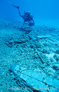 Image 00794, Debris from wreck of F/V Jin Shiang Fa. Rose Atoll National Wildlife Sanctuary, American Samoa, USA, Phillip Colla, all rights reserved worldwide.   Keywords: american samoa:animal:creature:environment:landscape:marine national monuments:national wildlife refuges:nature:oceans:outdoors:outside:pacific:rose atoll:rose atoll marine national monument:rose atoll national wildlife refuge:rose atoll national wildlife sanctuary:samoa:scene:scenery:scenic:seascape:underwater:underwater landscape:usa.