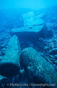 Debris,  wreck of F/V Jin Shiang Fa. Rose Atoll National Wildlife Sanctuary, American Samoa, USA, natural history stock photograph, photo id 00807