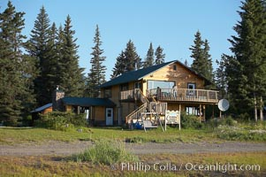 Silver Salmon Creek Lodge. Lake Clark National Park, Alaska, USA, natural history stock photograph, photo id 19066