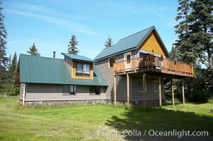 Iliamna house at Silver Salmon Creek Lodge. Lake Clark National Park, Alaska, USA, natural history stock photograph, photo id 19073
