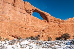 Skyline Arch spans 90 feet, Arches National Park, Utah