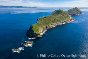 South Coronado Island, aerial photo, Coronado Islands (Islas Coronado)