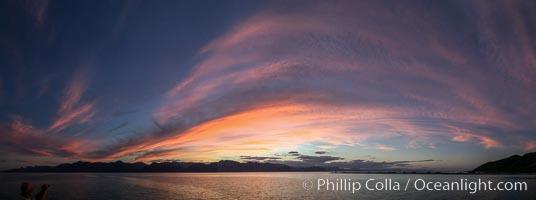 Spectacular Sunset, Panorama, Sea of Cortez, Baja California, Mexico