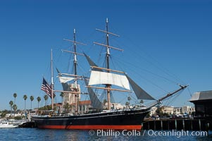 The Star of India is the worlds oldest seafaring ship.  Built in 1863, she is an experimental design of iron rather than wood.  She is now a maritime museum docked in San Diego Harbor, and occasionally puts to sea for special sailing events