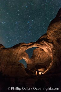 Image 29251, Stars over Double Arch, Arches National Park. Double Arch, Arches National Park, Utah, USA