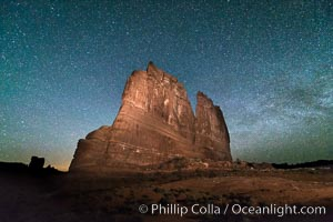 Stars over the Organ, Arches National Park, Courthouse Towers