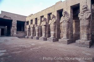 Statues, Ramses III temple, Karnak complex, Luxor, Egypt