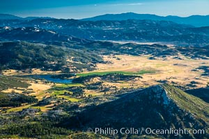 Stonewall Peak (lower right) and Lake Cuyamaca in Cuyamaca Rancho State Park, near San Diego, California. USA, natural history stock photograph, photo id 27921