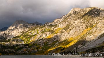 Storm over Lake Sabrina, eastern Sierra Nevada, Bishop Creek Canyon, Sierra Nevada Mountains, California
