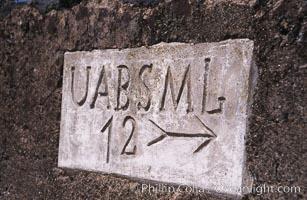 Street sign, Ponta Delgada, Sao Miguel Island