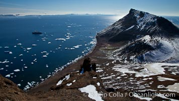 Summit of Devil Island with portions of the Erebus and Terror Gulf region of the Weddell Sea in the background