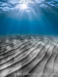 Sunlight and sand ripples, Sand Harbor, Lake Tahoe, Sand Harbor State Park