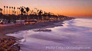 Sunrise on the coast of Oceanside California. USA, natural history stock photograph, photo id 27232