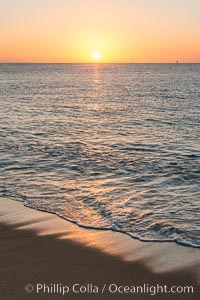 Sunrise on Medano Beach, on the coast of Cabo San Lucas, Mexico. Cabo San Lucas, Baja California, Mexico, natural history stock photograph, photo id 28951