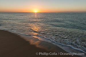 Sunrise on Medano Beach, on the coast of Cabo San Lucas, Mexico. Cabo San Lucas, Baja California, Mexico, natural history stock photograph, photo id 28952
