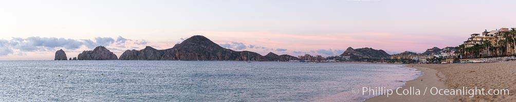 Sunrise on Medano Beach, on the coast of Cabo San Lucas, Mexico. Cabo San Lucas, Baja California, Mexico, natural history stock photograph, photo id 28957