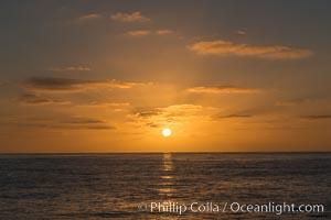 Sunset crossing to Ensenada, Guadalupe Island (Isla Guadalupe)
