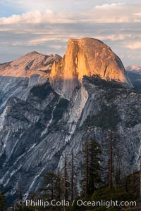 Sunset light on Half Dome and Clouds Rest, Yosemite National Park