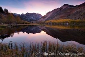 Sunset on North Lake in the eastern Sierra Nevada, autumn, Bishop Creek Canyon Sierra Nevada Mountains
