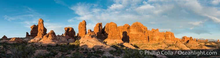 Sunset over Garden of the Gods, Arches National Park. Garden of the Gods, Arches National Park, Utah, USA, natural history stock photograph, photo id 29259