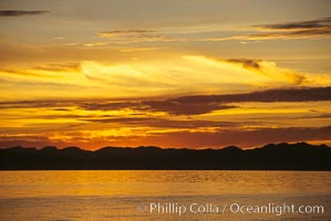 Sunset, clouds and ocean, Sea of Cortez