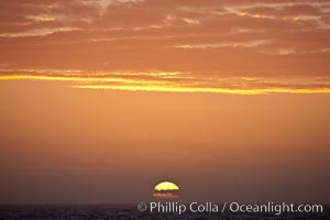 The sun sets on the Southern Ocean in a beautiful sunset