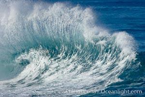Wave and backwash spray, La Jolla, California