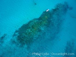 Image 32362, Suwanee Reef, Sea of Cortez, Aerial Photo. Baja California, Mexico, Phillip Colla, all rights reserved worldwide. Keywords: aerial, aerial photo, archipelago espiritu santo, baja california, gulf of california, la paz, mexico, san lorenzo channel, sea of cortez, suwanee reef.