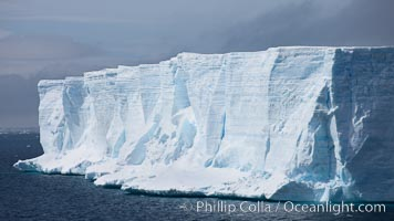 Tabular iceberg in the Antarctic Sound. Antarctic Sound, Antarctic Peninsula, Antarctica, natural history stock photograph, photo id 24783