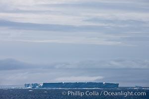 Tabular iceberg in the Antarctic Sound. Antarctic Peninsula, Antarctica, natural history stock photograph, photo id 24874