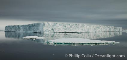 Tabular iceberg, Antarctic Peninsula, near Paulet Island, sunset
