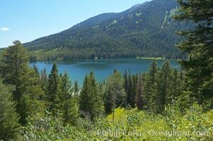 Taggart Lake. Grand Teton National Park, Wyoming, USA, natural history stock photograph, photo id 13016